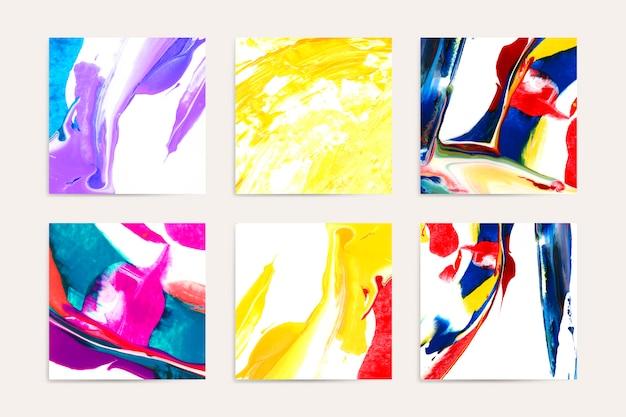 Gemischte acrylbilder