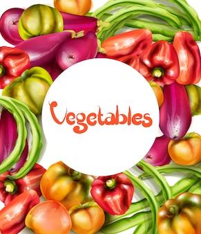 Gemüse auberginen und tomaten aquarell