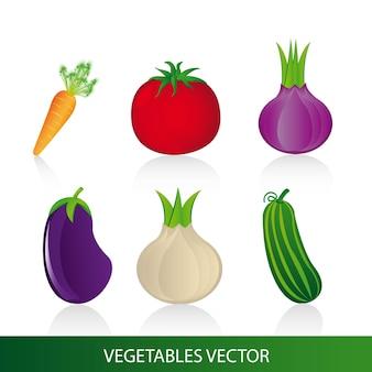Gemüse gesetzt