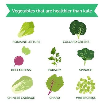 Gemüse ist gesünder als grünkohl