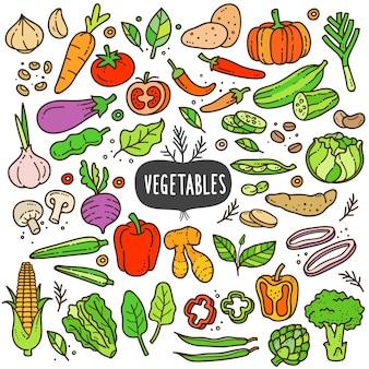 Gemüse-karikatur-farbillustration