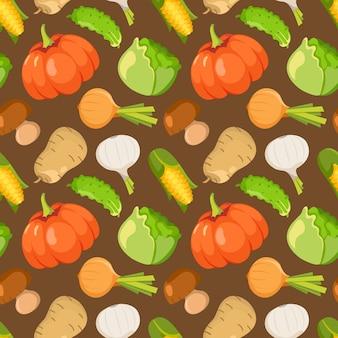 Gemüse muster hintergrund
