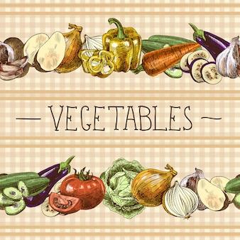 Gemüse nahtlose muster