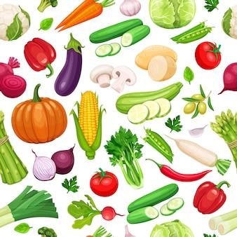 Gemüse nahtloses muster.