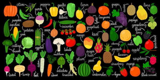 Gemüse, obst und beeren