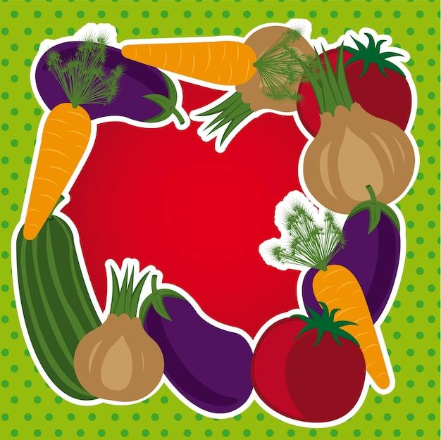 Gemüse rahmen