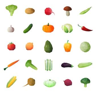 Gemüse-reife früchte eingestellt