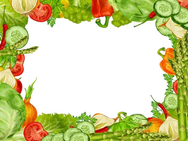 Gemüse stellte rahmen ein