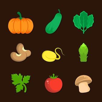 Gemüse-symbol-illustration