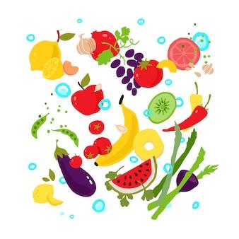 Gemüse und früchte.