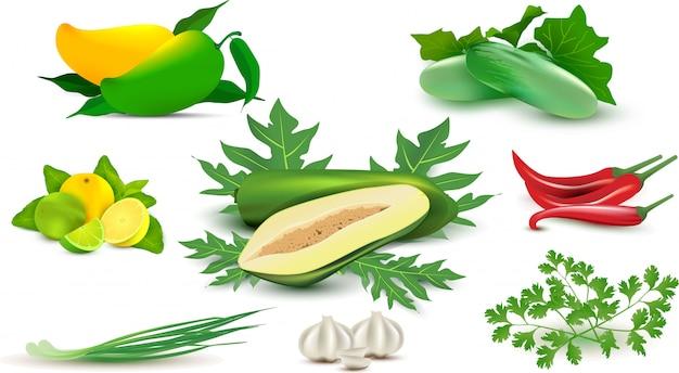 Gemüse und gewürze