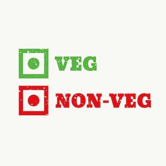 Gemüse und nonveg zeichen