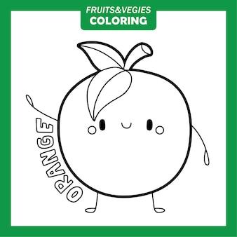 Gemüse und obst färbung zeichen orange