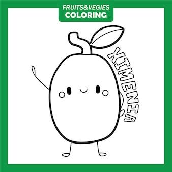 Gemüse und obst färbung zeichen ximenia