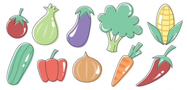 Gemüse-vektor-design
