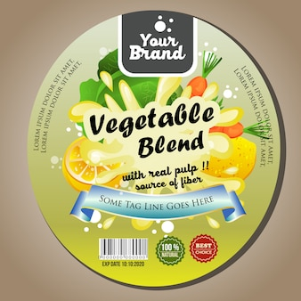 Gemüsemischetikettenaufkleber