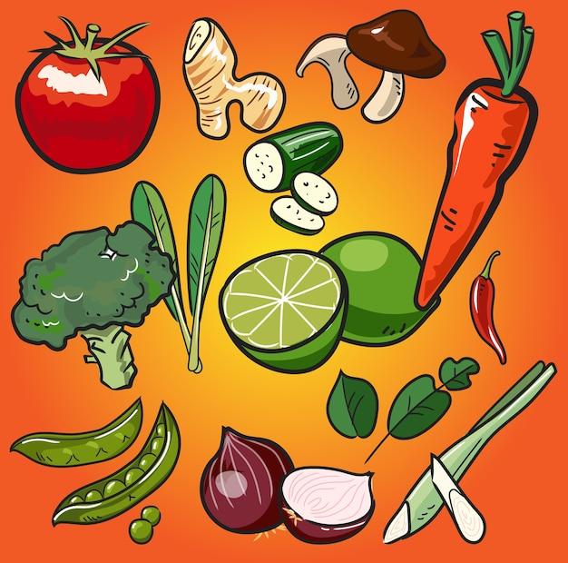 Gemüsepilz in der asiatischen küche-art