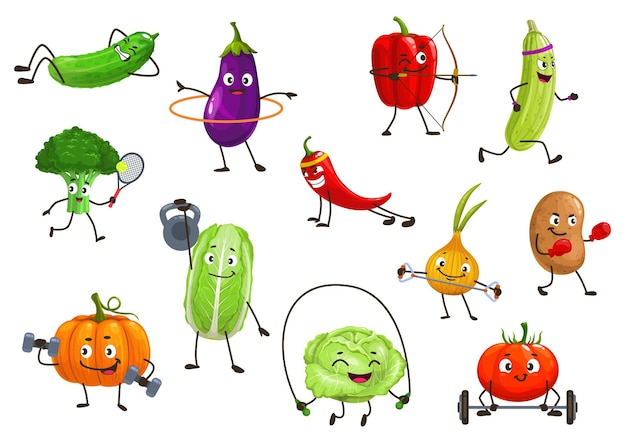 Gemüsesportler isolierte illustration