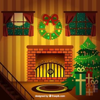 Gemütliche weihnachtszimmer