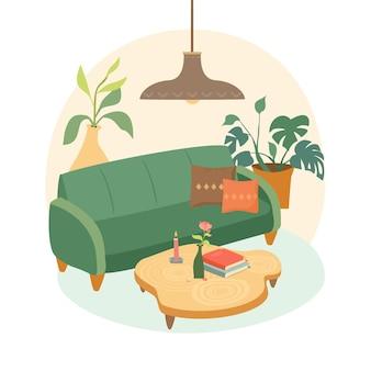 Gemütliches wohnzimmer design