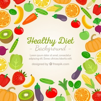 Gemüse und Obst Hintergrund