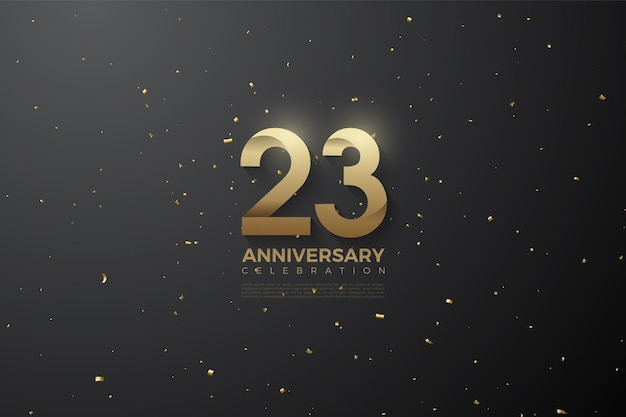 Gemusterte figuren zum 23-jährigen jubiläum
