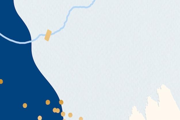 Gemusterter blauer hintergrund von memphis