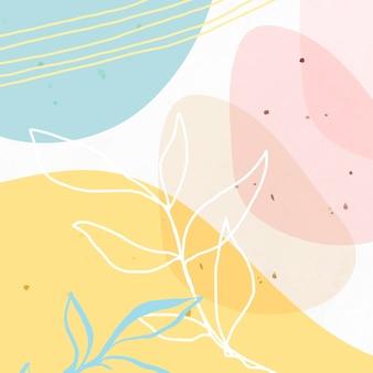 Gemusterter hintergrund des abstrakten pastellfarbenen memphis