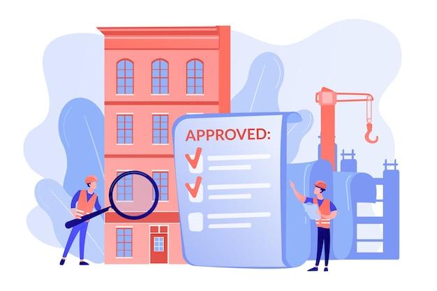 Genehmigung von architekturprojekten, sicherheitsüberprüfung