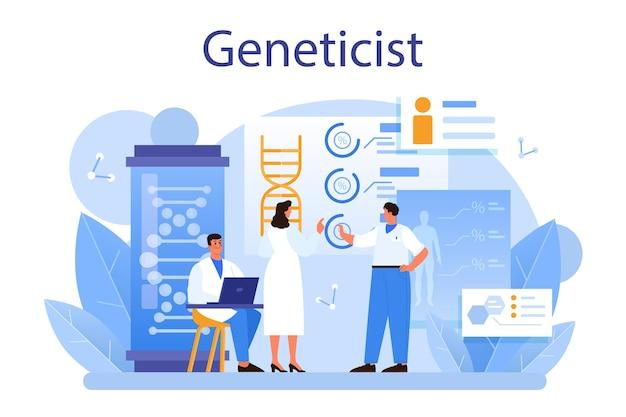 Genetiker konzept. medizin und wissenschaftstechnologie. wissenschaftler