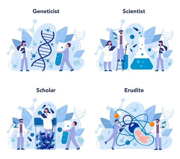 Genetiker-konzeptsatz