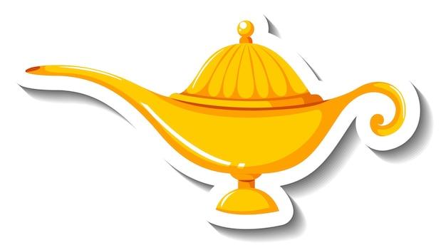 Genie magic lamp cartoon sticker