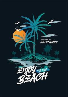 Genieße den strand