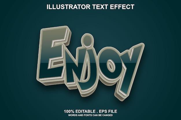 Genieße texteffekt editierbar