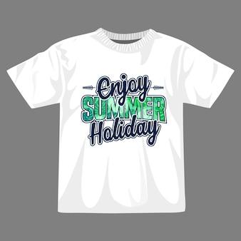 Genießen sie das t-shirt-design für den sommerurlaub