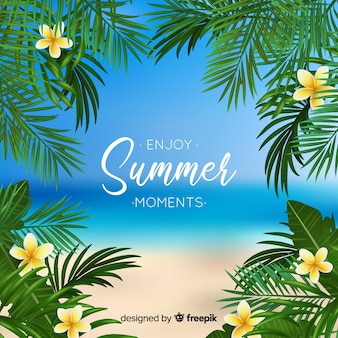 Genießen sie den sommerhintergrund