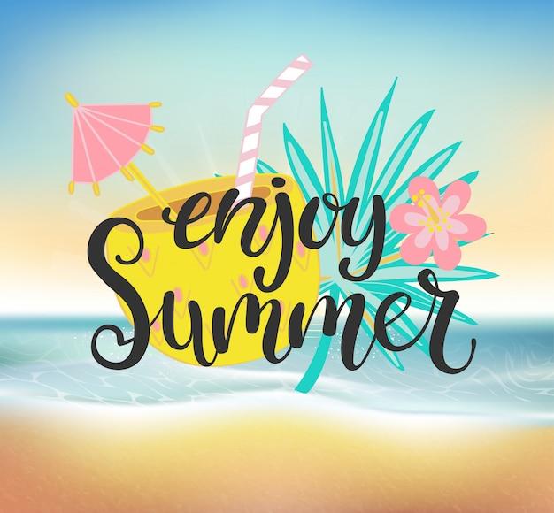 Genießen sie eine sommer-strandparty