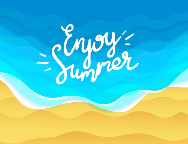 Genießen sie sommerillustration
