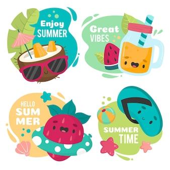 Genießen sie tolle stimmung in sommerabzeichen