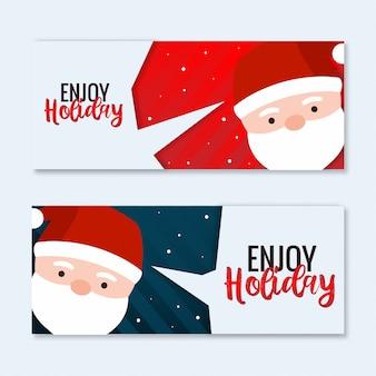 Genießen sie weihnachten landschaft banner