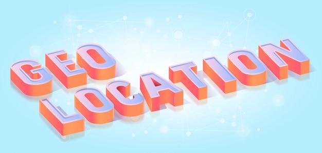 Geo-positionstext titel isometrisch