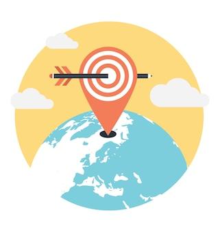 Geo-targeting flache vektor-illustration