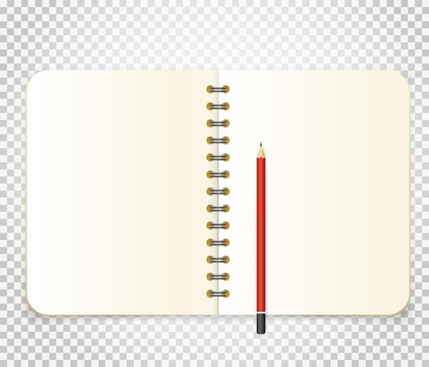 Geöffnete binderillustration lokalisiert auf transparentem hintergrund