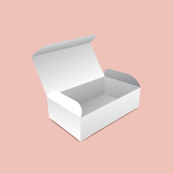 Geöffnete box mock-up