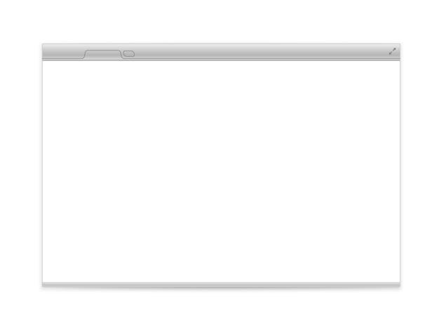 Geöffneter browser isoliert auf weiß
