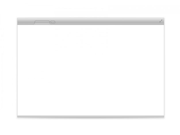 Geöffnetes browservektorelement lokalisiert auf weiß