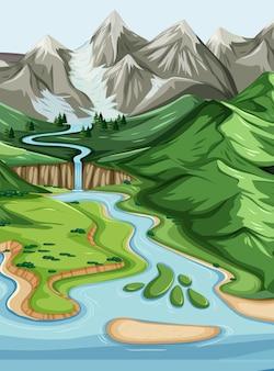 Geografische landschaft der natur
