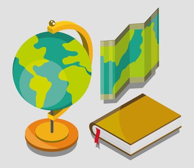 Geographie-globus-kartenset
