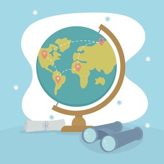 Geographie-illustrationsdesign