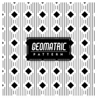 Geomatric nahtloser muster-schwarzweiss-hintergrund